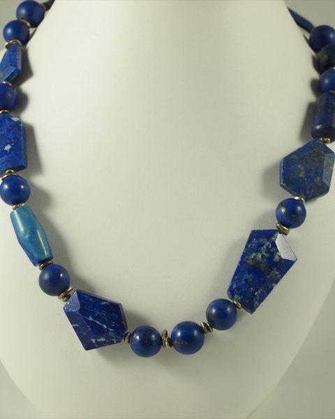 Lapis Lazuli kette, 110 gramm, formmix, mittlere qualität