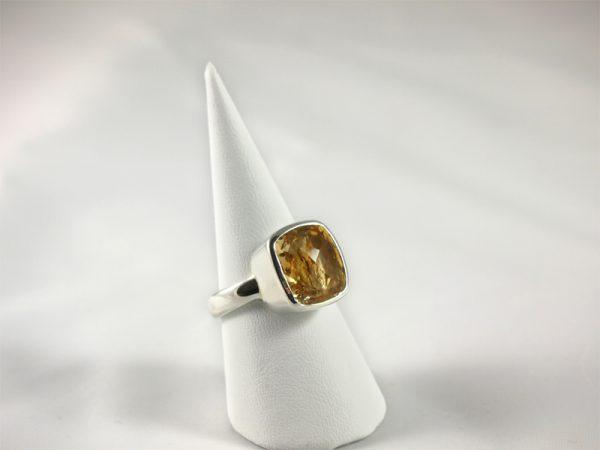 Zitrin Ring in Sterling Silber 925