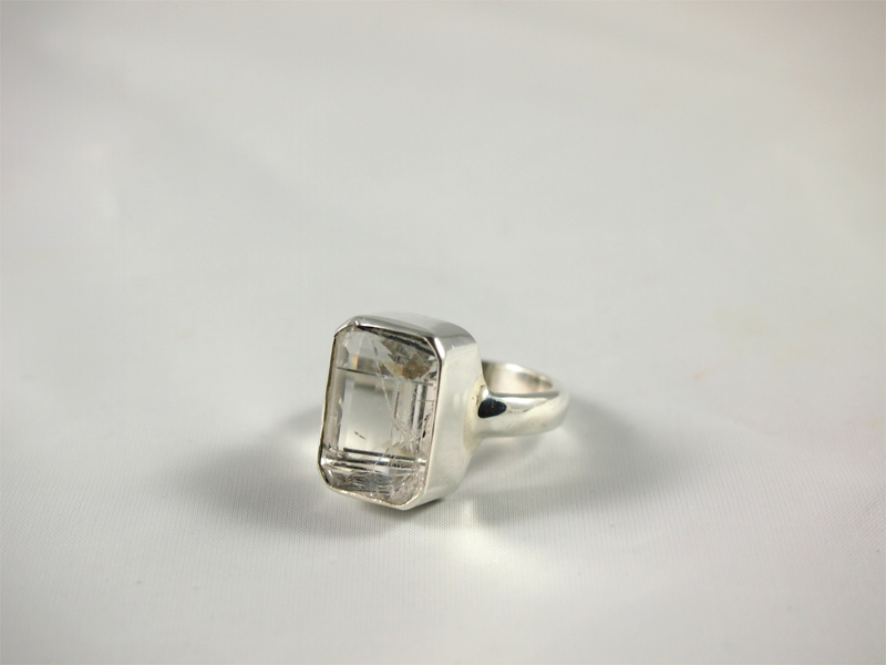 Turmalinquarz Ring in Silber Singer Wien