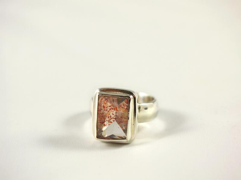 Quarz Ring Silber Erdbeerquarz Brasilien