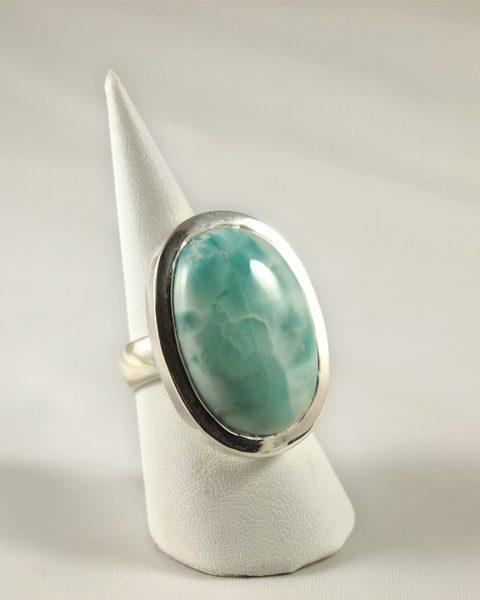 Larimar Ring in Silber Singer Edelsteine