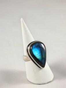 Labradorit Ring mit herrlichem Blau