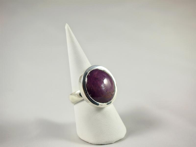 Sternrubin Ring in Silber bei Singer