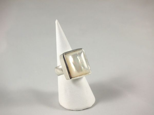 Perlmutt Silber Ring Singer Wien