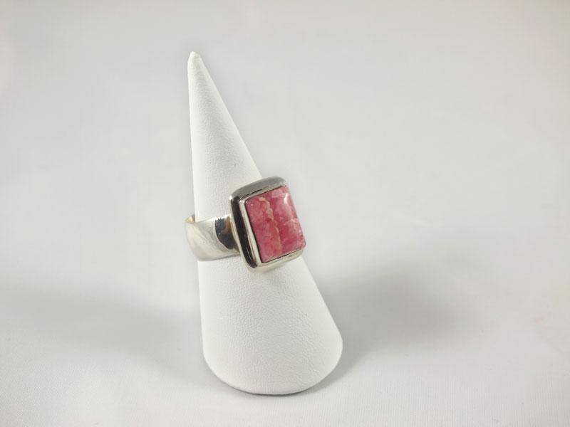 Rhodochrosit Ring Argentinien Silberfassung