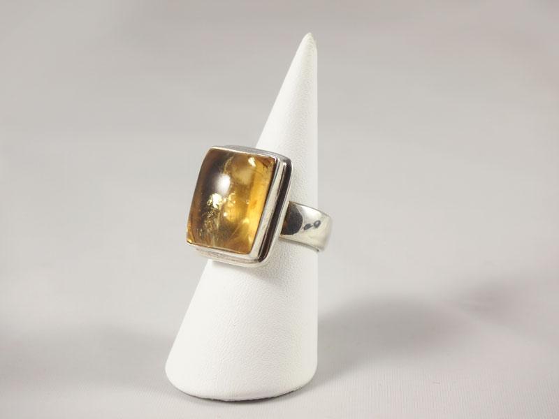 Zitrin Ring Silberfassung Singer Wien