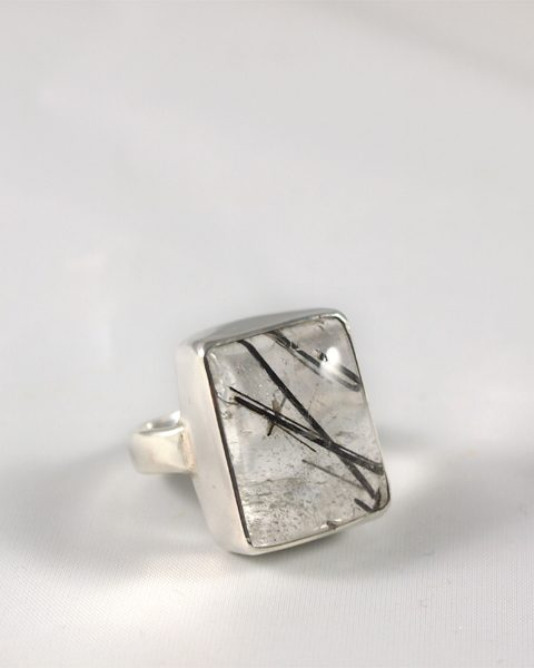 Turmalinquarz Ring in Sterling Silber