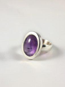 Amethyst Ring Cabochon Silberring