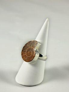 Ammonit Ring und 925 Silber Singer Wien