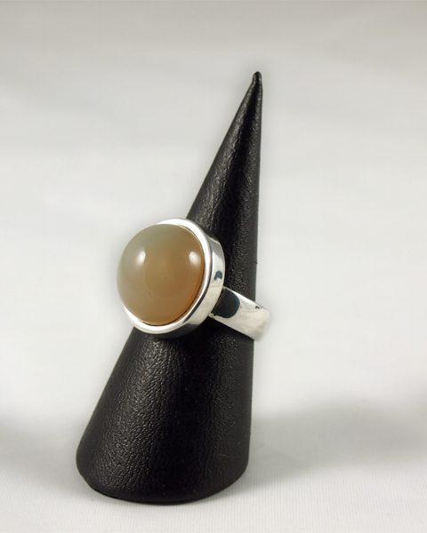 Mondstein Ring mit Katzenauge