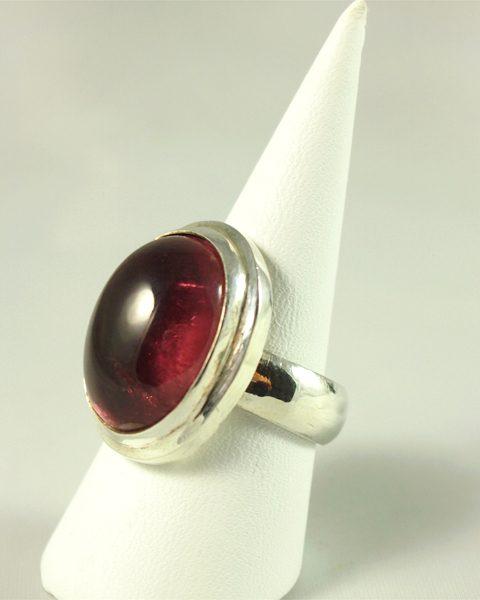 Rosa Turmalin Rubelith, Ring, 14 gramm, elegante schlichte fassung, tolles altrosa