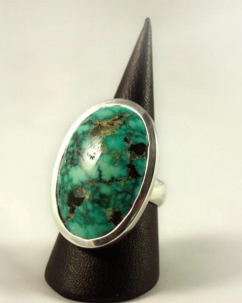 Türkis Ring, 15, 3 gramm, oval, schöne masserung,