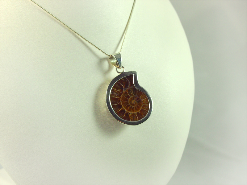 Ammonit Anhänger Silber Majanga Madagaskar