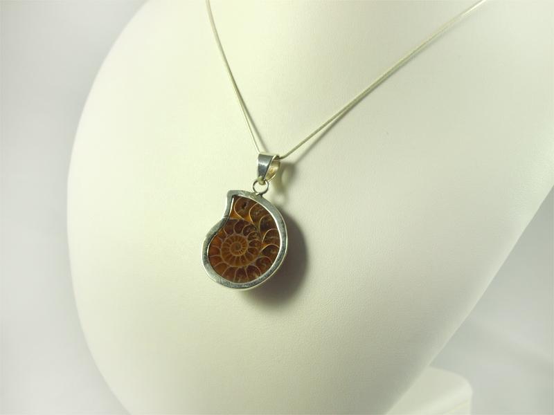 Ammonit Anhänger silver pendant Singer Wien