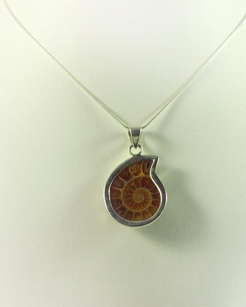 Ammonit Anhänger 10Gramm in Silber