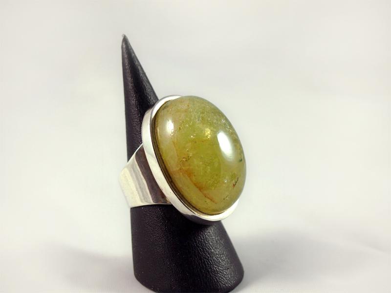 Aquamarin Ring, 15 gramm, mächtiger stein, hohe fassung, gelbgrün