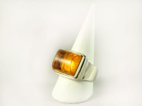 Zitrin Ring, 15, 7 gramm, kräftige farbe. herrenring,