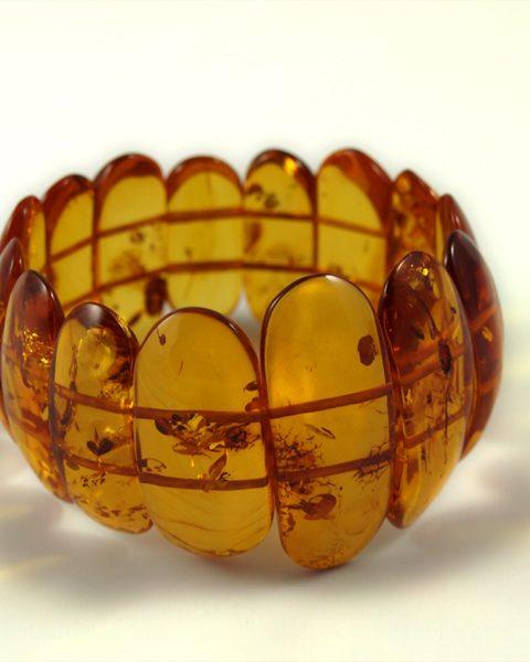 Bernstein Armband, 39, 4 gramm, gleicher farbton, honigfarben, verlauf