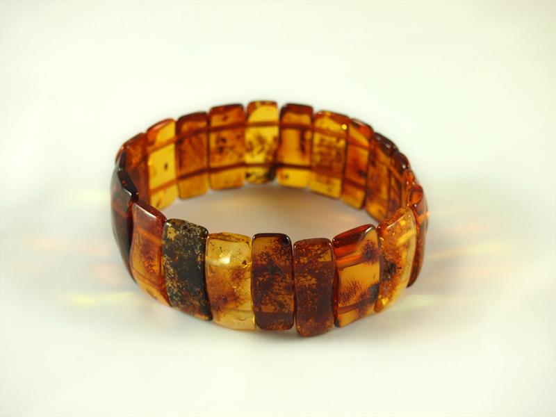 Bernstein Armband, hell und dunkel,19,2 gramm, gummiband