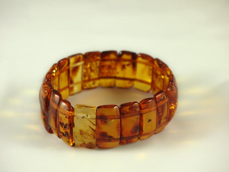 Bernstein Armband, 19 gramm, flachen steinen, rechteckig