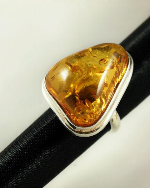 Bernstein Ring Silber 925 Glaesium