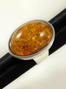 Bernstein Ring Silber Amber Jewellery Singer