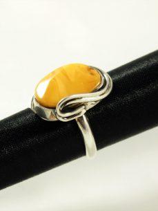 Bernstein Ring, 7,6 gramm, naturbernstein, butterscotch, oval, design