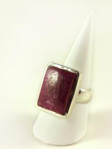 Rubin Ring, 14, 4 gramm, derbes material, rechteckig,