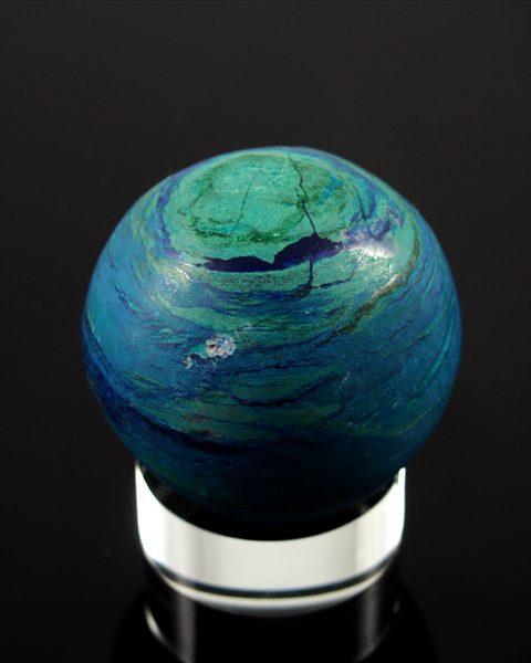 Azurit Malachit Kugel mit Azurit gefärbt
