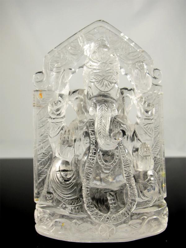 Bergkristall Ganesha glasklar 1,315kg Indien