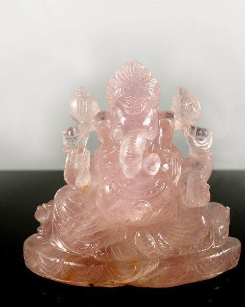 Rosenquarz Ganesha