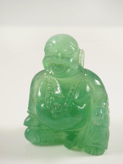 Buddha Fluorit grün China Indien