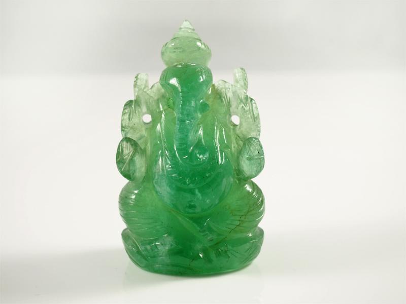 Fluorit Ganesha aus madegassischem Fluorite