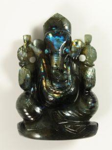 Labradorit Ganesha schön blau