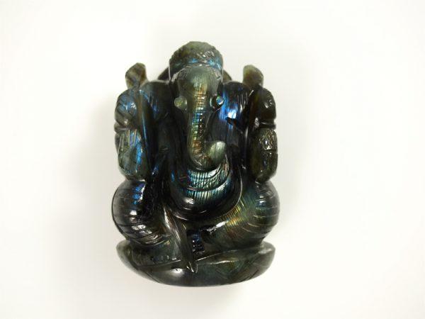 Labradorit Ganesha gefertigt in Indien