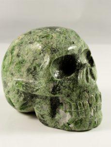 Kristallschädel grüner Katzenaugenopal Brasilien