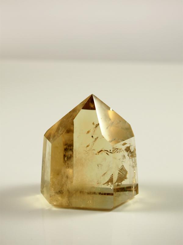 Zitrin Kristallspitze natur, Singer Edelsteine und Minerallien
