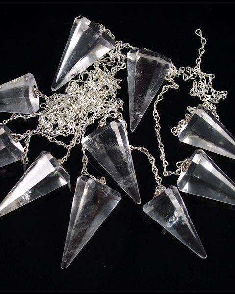 Bergkristall Pendel facettiert Brasilien