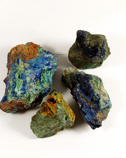 Azurit Malachit Mineral natur Afrika
