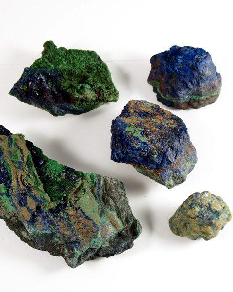 Azurit Mineral mit Malachit Kongo Afrika