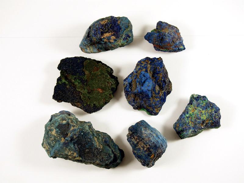 Azurit Mineral mit Malachit