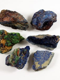 Azurit Malachit Mineral natur Kongo