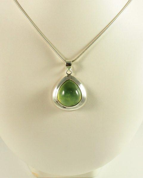 Prehnit, tropfen, silber, helles grün, transparenz, top qualität