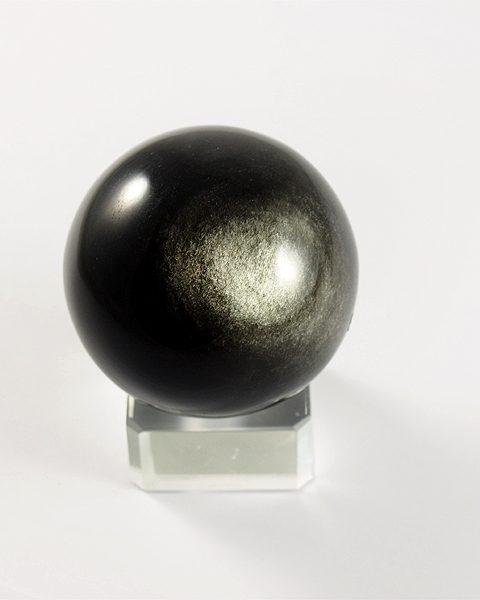 Silber-Obsidian, Kugel, Mexiko, top Qualität,