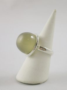 mondstein, Ring, Silber,