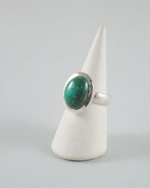 ovaler türkis ring silber grün-türkis china