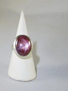 Stern Rubin, Ring, Silber, Violett Rot, Indien, Singer