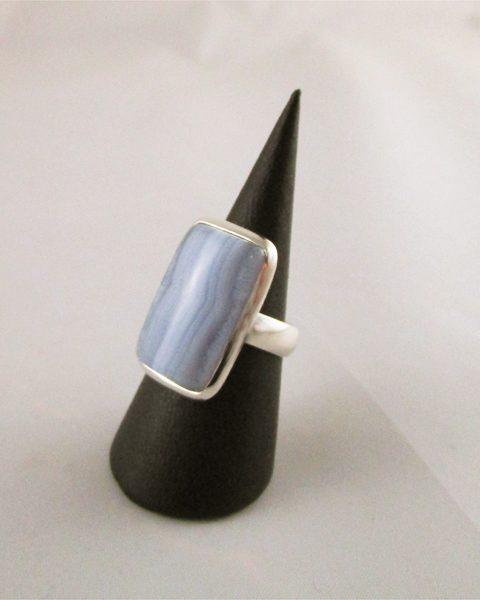 Chalcedon, blau, Ring, Silber, Online kaufen, Wien, Singer Edelsteine,